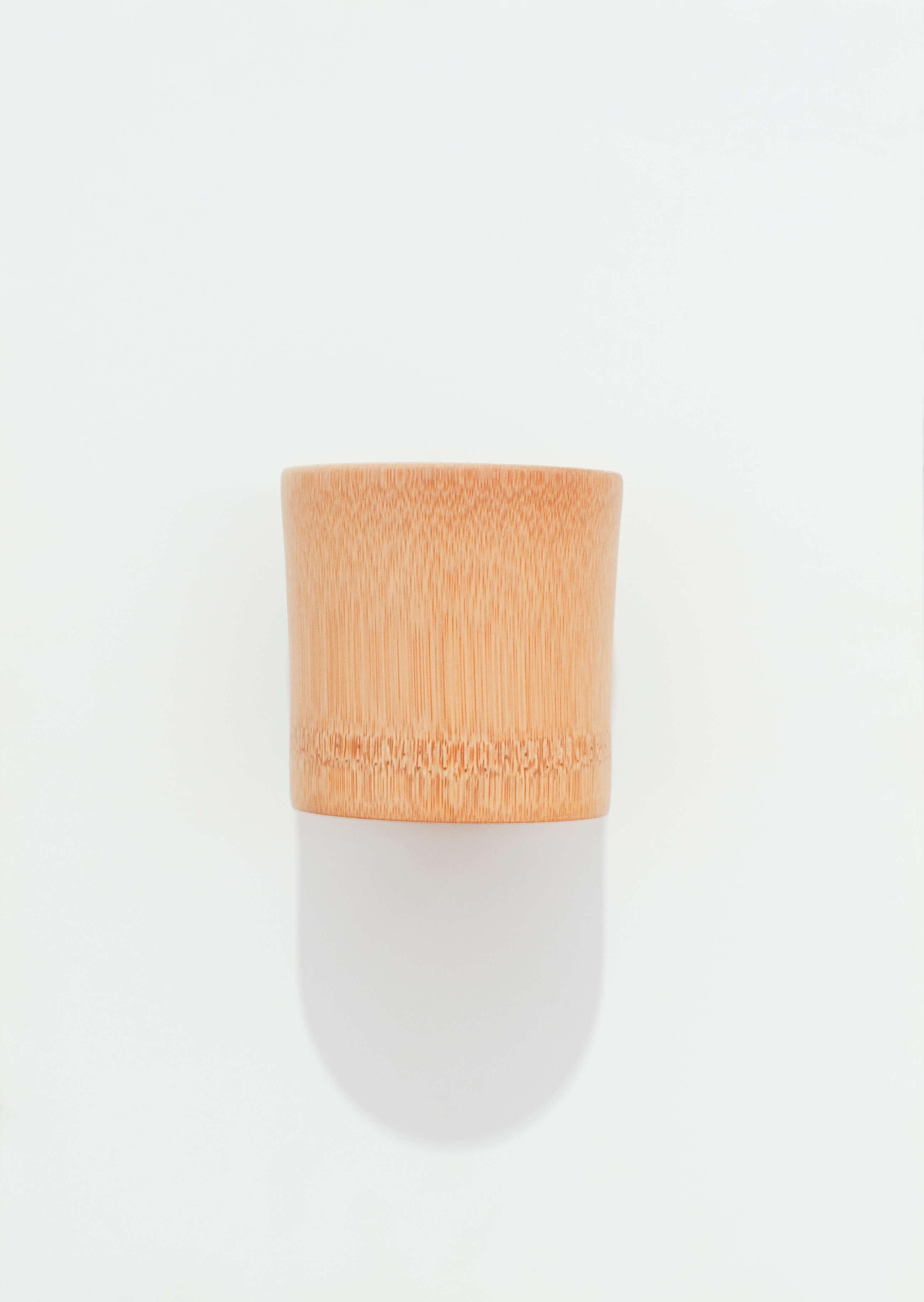 Vaso tradicional de bambú. Japón